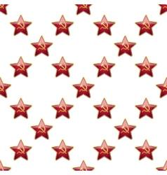 Universal badge soviet union stars seamless vector