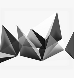 White 3d triangle textured background vector