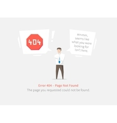 Error 404 page layout design vector image