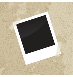 Photo frame on old vintage grungy background vector