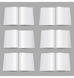 Magazine templates vector
