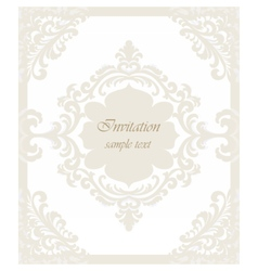 Vintage classic wedding invitation card vector