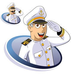 Marine captain vector