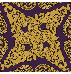 Seamless pattern baroque vector