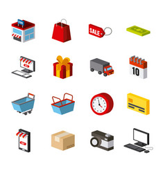 shopping isometric design vector image