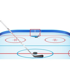 hockey stadium vector image