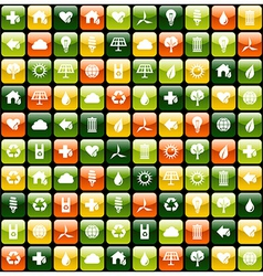Green environment app icon pattern background vector