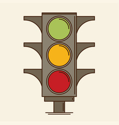 Traffic light single flat icon vector