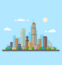 Urban landscape picture vector