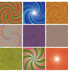 Set abstract twirl background vector
