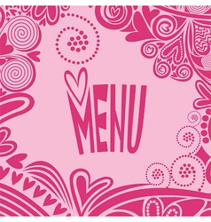 Romantic valentines day menu vector