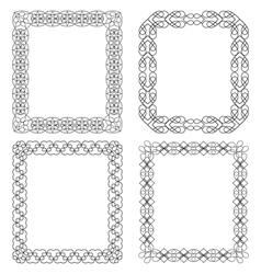 4 black frames for decoration vector