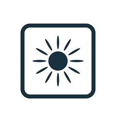 Sun icon rounded squares button vector