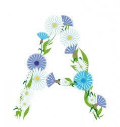 A letter of prairie flowers vector