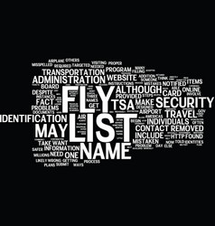 Are you on the no fly list what you can do text vector