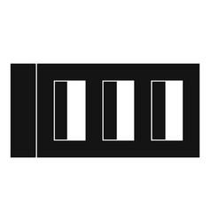 Block icon simple style vector