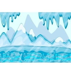 Cartoon winter landscape with iceberg and ice vector
