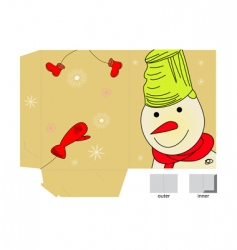 Christmas folder vector image vector image