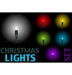 Christmas Light Set vector image vector image