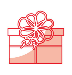 cute shadow christmas gift vector image vector image