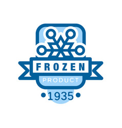 Frozen product since 1935 sticker for food with vector