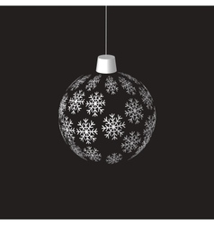 hanging christmas ball vector image
