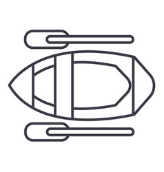 kayak line icon sign on vector image