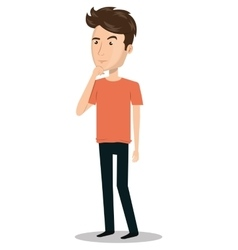 man person thinking icon vector image