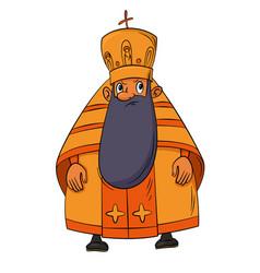 orthodox priest cartoon vector image