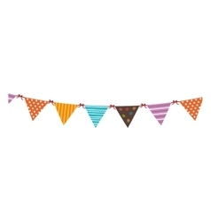 Pennants festival isolated flat icon vector image