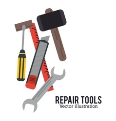 repair tools construction design vector image vector image