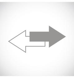Reverse black icon vector