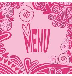 Romantic valentines day menu vector