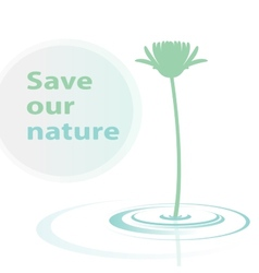 Save our nature vector image