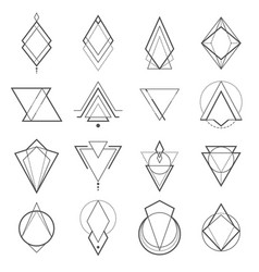 set of minimalistic geometric elements vector image