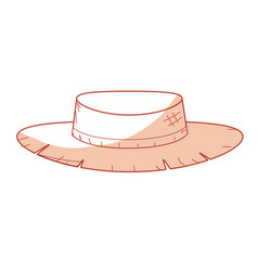 Silhouette cute pesant hat to use in the farm work vector
