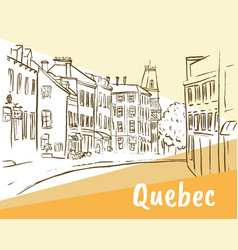 St jean street in quebec vector