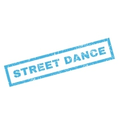 Street Dance Rubber Stamp vector image