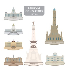 Symbols of US cities vector image vector image