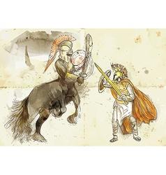 Theseus and centaur vector