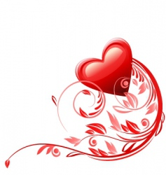 valentines card decoration vector image vector image