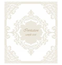 Vintage Classic Wedding Invitation card vector image vector image