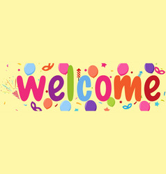 welcome sign banner vector image