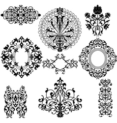 Set of decorative floral patterns vector