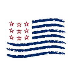 American wave flag independence day symbol vector