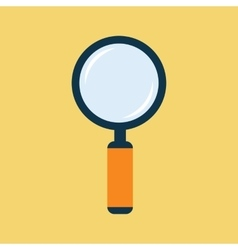 Magnifier flat icon vector
