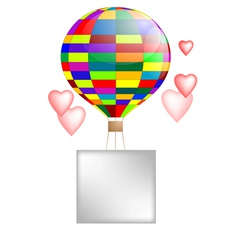 Balloon and hearts vector