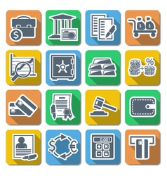 Bank flat icons vector