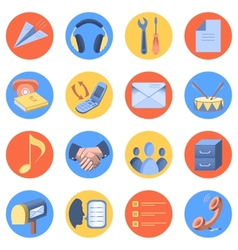 Flat icon modern set for mobile interface vector