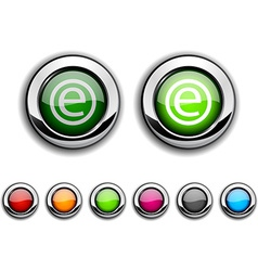 Enternet button vector